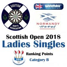 Scottish Open 2018 Ladies's Darts Singles